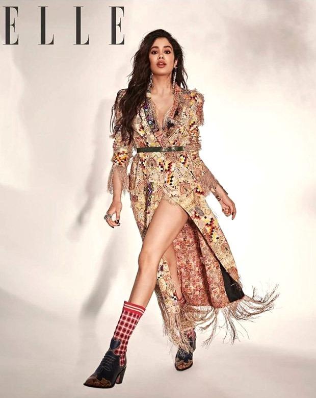 Janhvi Kapoor exudes elegance in floral thigh-high slit dress for Elle India
