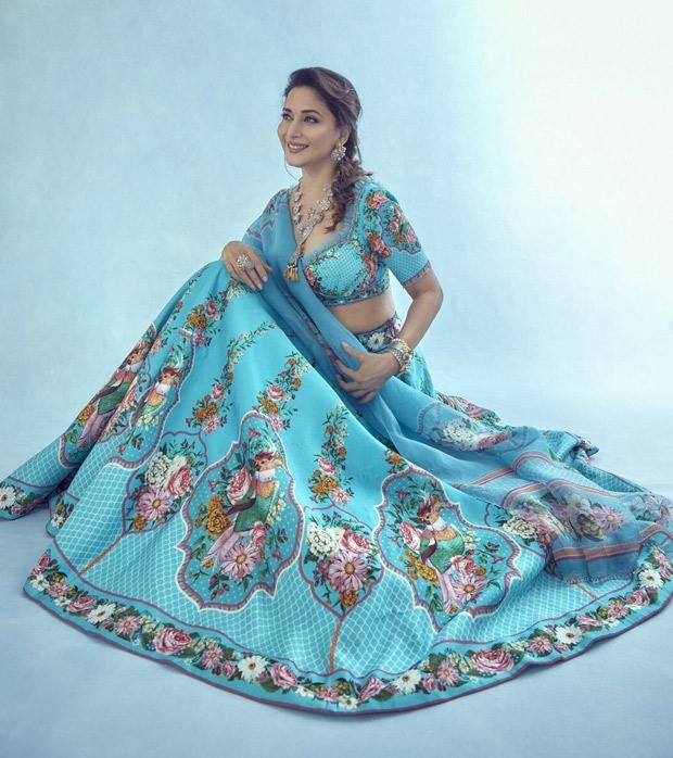 Madhuri Dixit makes sartorial statement in floral lehenga worth Rs. 72,000 for Dance Deewane 3
