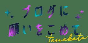 ブログに願いをこめて tanabata