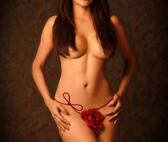 Sherlyn Chopra Sizzles Posing In Nothing But A Rose