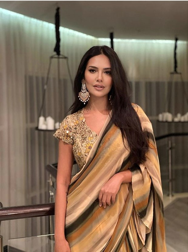 Esha Gupta looks like an absolute diva in a gorgeous ruffle saree : Bollywood News -