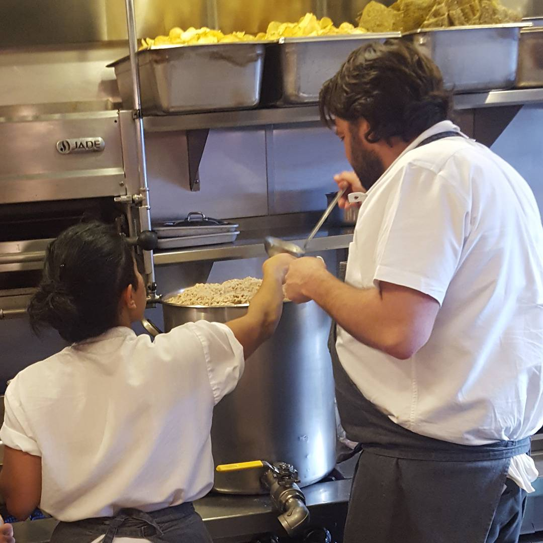Chef Stuart and diqieats working on consomm for the retiredhellip