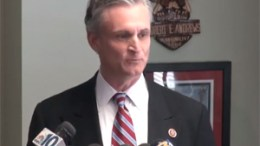 Rep. Rob Andrews at press conference announcing his resignation from Congress.