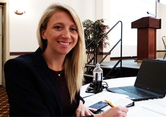 Amanda Bainton, program director of the Military Family Initiative of the Military Officers Association of America (MOAA)