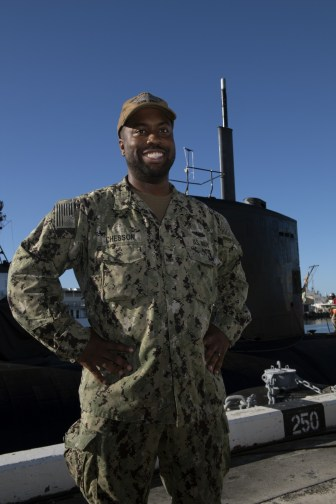) U.S. Navy Petty Officer Curtis Chesson, an Electrician's Mate from Philadelphia, PA (U.S. Navy photo by Mass Communication Specialist 1st Class Rebecca Ives/Released.)