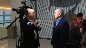 SBN's Steve Lubetkin interviewing PREIT CEO Joseph F. Coradino at Cherry Hill Mall, Jan. 24, 2019 (Dawn Deppi Photo/PREIT)