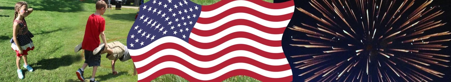 Small Town Fourth of July Banner