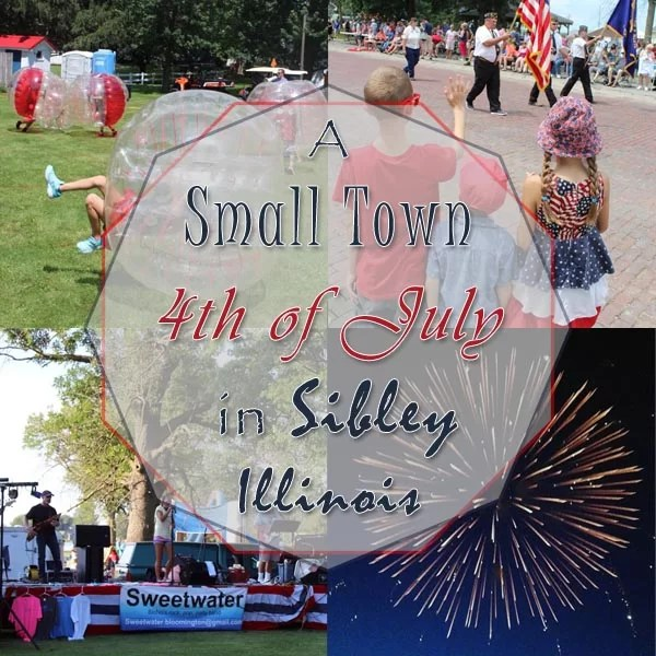 Small Town Fourth of July Square Pin