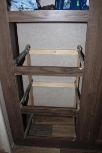 Drawer stack with drawers taken out