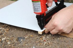 Using a brad nailer to attach square stock