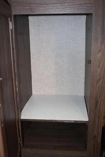 One shelf in closet