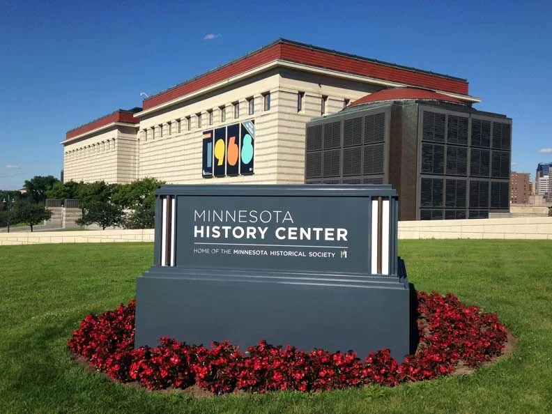 The Minnesota History Center is right up the road from the capitol building.