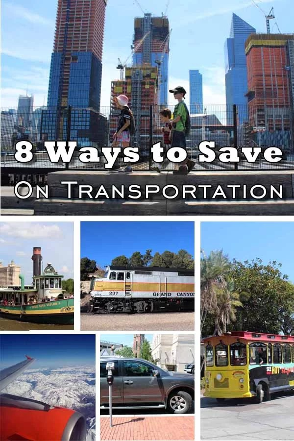 8 Ways to Save on Transportation Pin