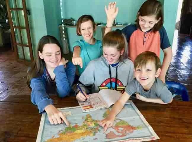 Kids picking a destination