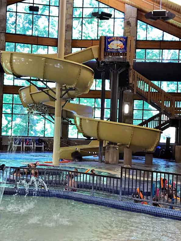 The indoor water park in Brown County State Park is fun out of the sun!