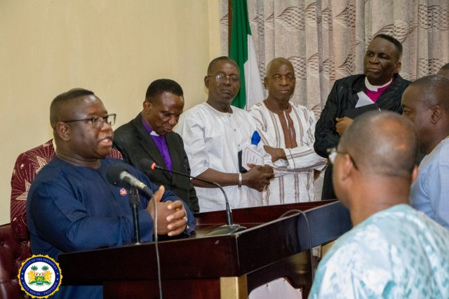 President Julius Maada Bio hosts Christian Prayers in Observance of