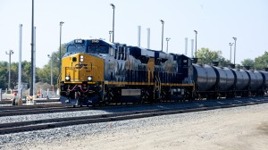A CSX unit train delivers a load of crude oil from the Bakken Shale in North Dakota to the Philadelphia Energy Solutions refinery in South Philadelphia.