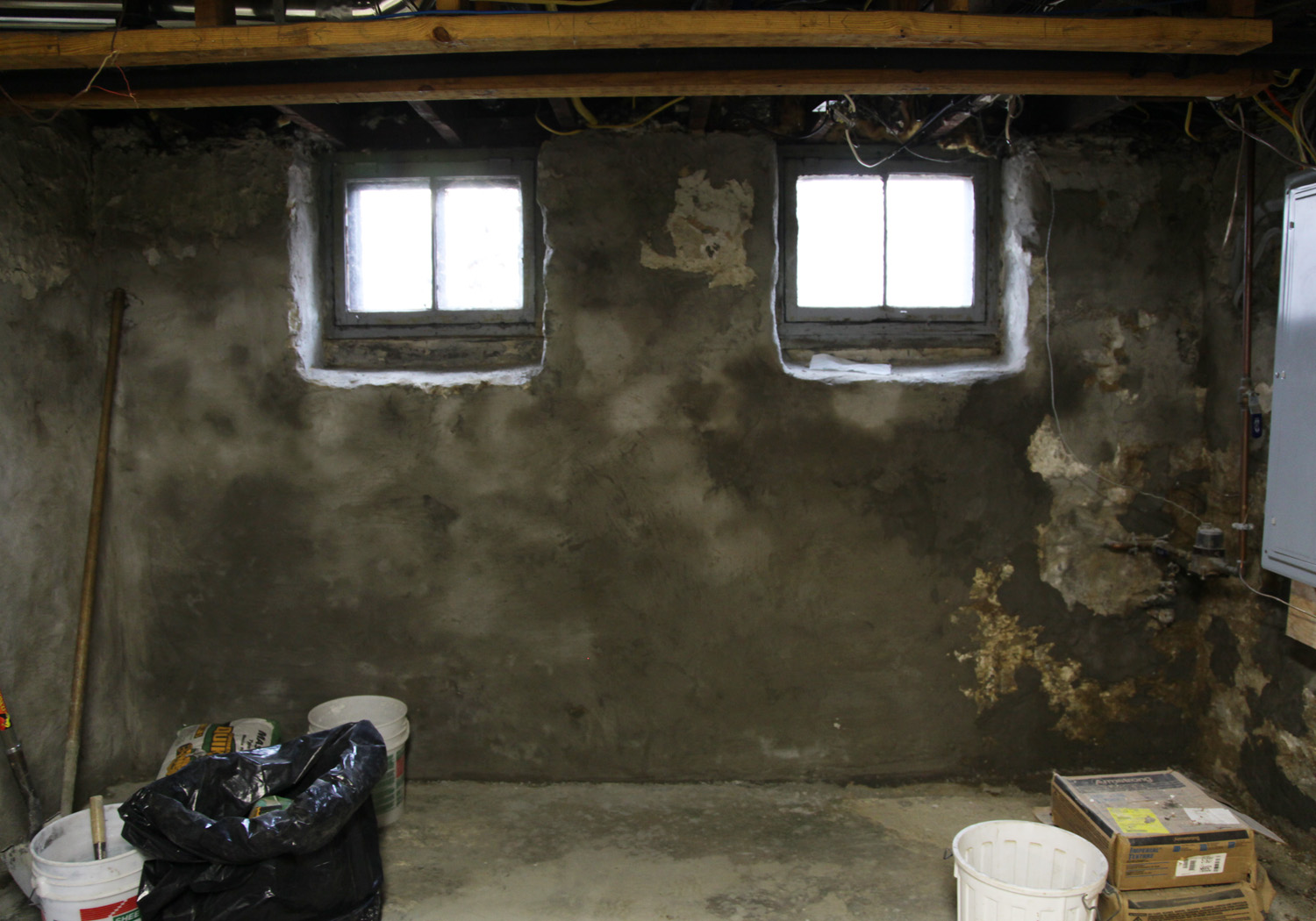 Our Basement Part 9 Wall Parging And Miscellanous