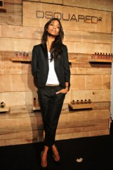 NEW YORK - SEPTEMBER 10: Zoe Saldana attends the DSQUARED2 HE WOOD and SHE WOOD fragrances launch at 632 West 28th Street on September 10, 2008 in New York City. (Photo by Brian Killian/WireImage)
