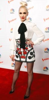 "THE VOICE -- ""Season 9 Press Junket"" -- Pictured: Gwen Stefani -- (Photo by: Trae Patton/NBC/NBCU Photo Bank via Getty Images)"