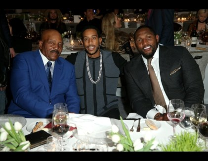 Super Bowl 50: Parties: Jim Brown and Ray Lewis
