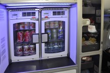 Jet Blue beverage fridge