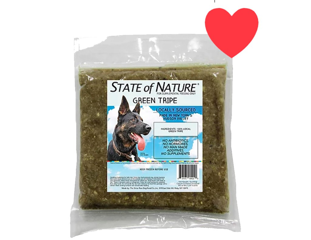 Green Tripe Raw Dog Food 1 lb Packages 15 lb Bulk Case Box of 12/2oz Burge