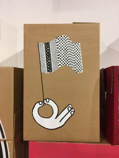 Flag box barcelona
