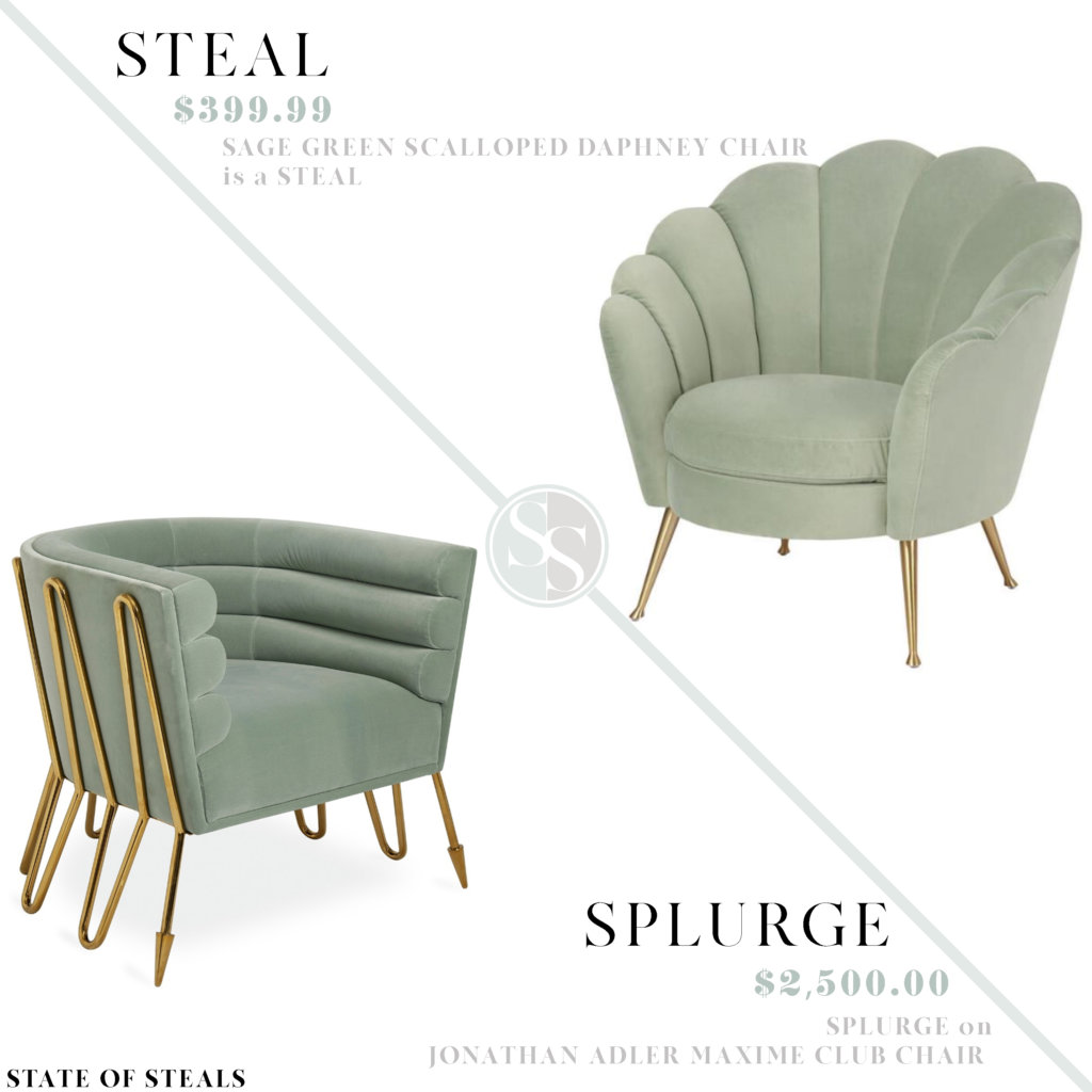 Sage Velvet Accent Chair State Of Steals