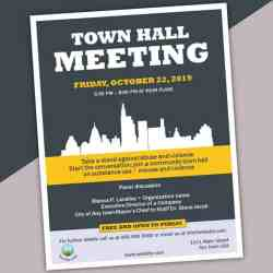 Town Hall Meeting Flyer Template 1 State of the City Presentations