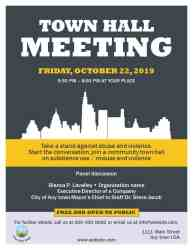 hall town meeting template flyer invite state residents