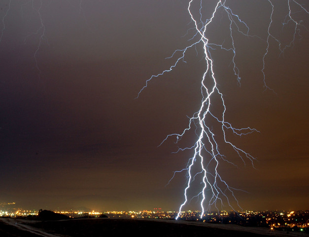 Lightning stakes in the San Fernando Valley