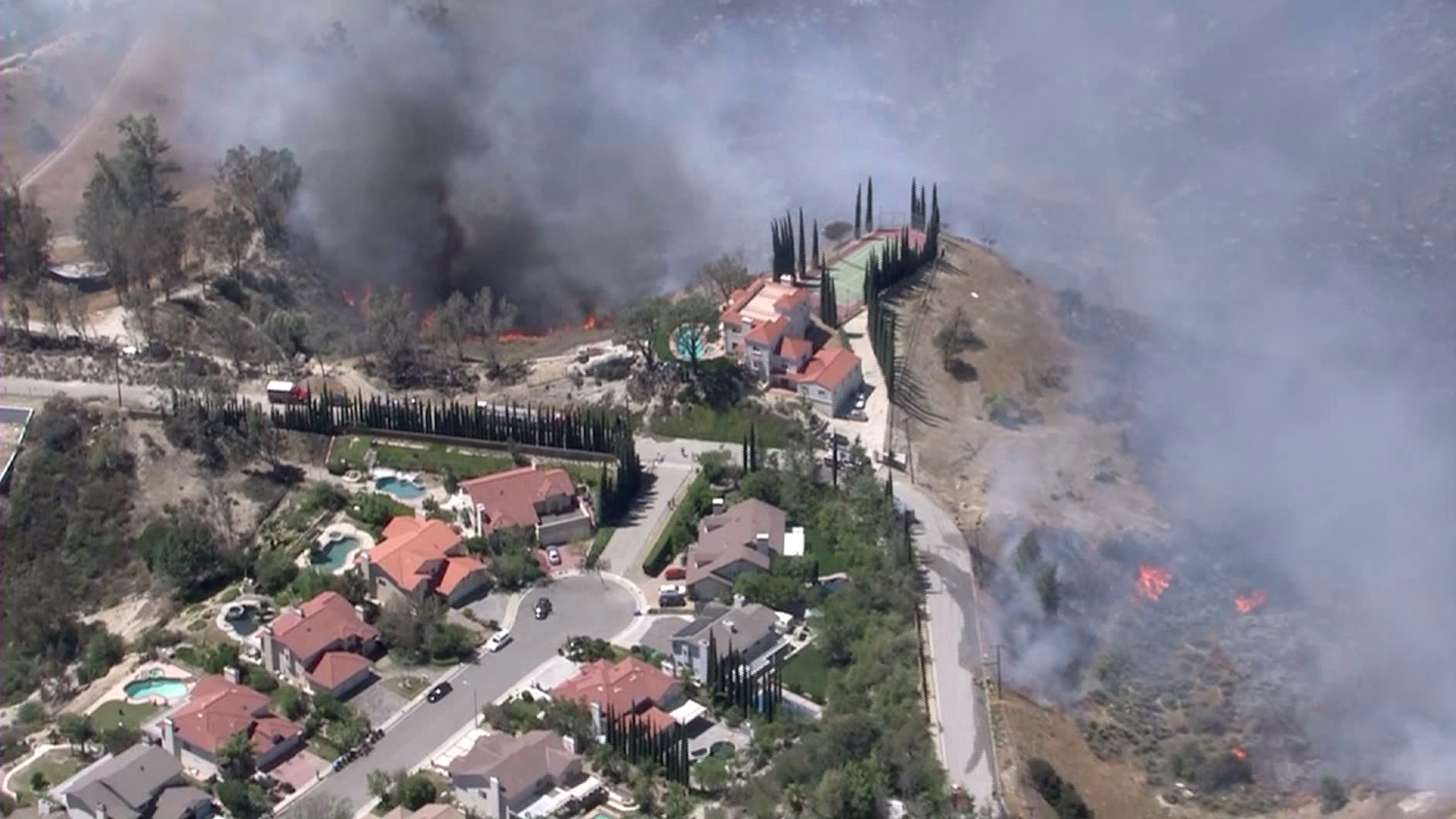 Firefighters Battle 2 Blazes in San Fernando Valley