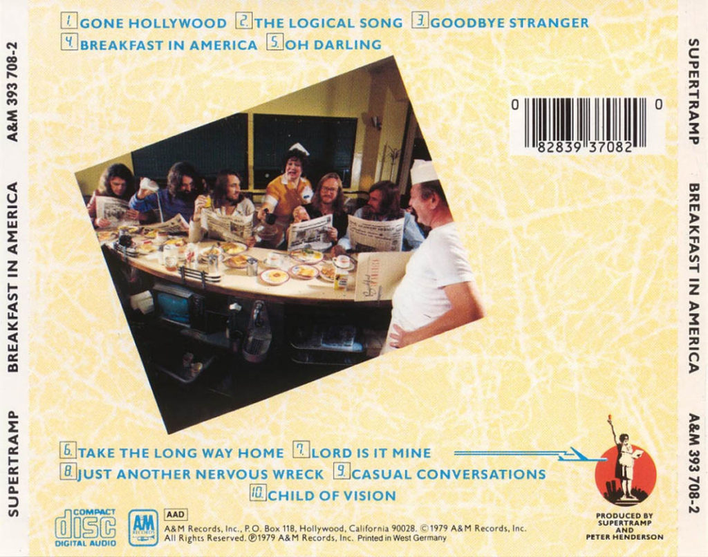 Supertramp - Breakfast in America (back)