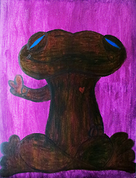 Froga (oils on canvas 18 x 24 x .75)