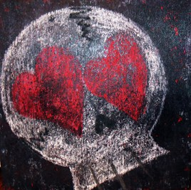LoveStruck (oils and pastels on wood 12 x 12) *Sold*
