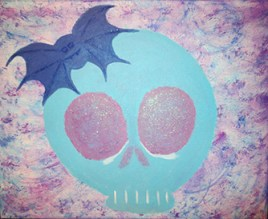 Mischievous (acrylics on canvas 20 x 16 x .75)