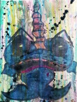 NarwAngx (watercolors on canvas 9x12)