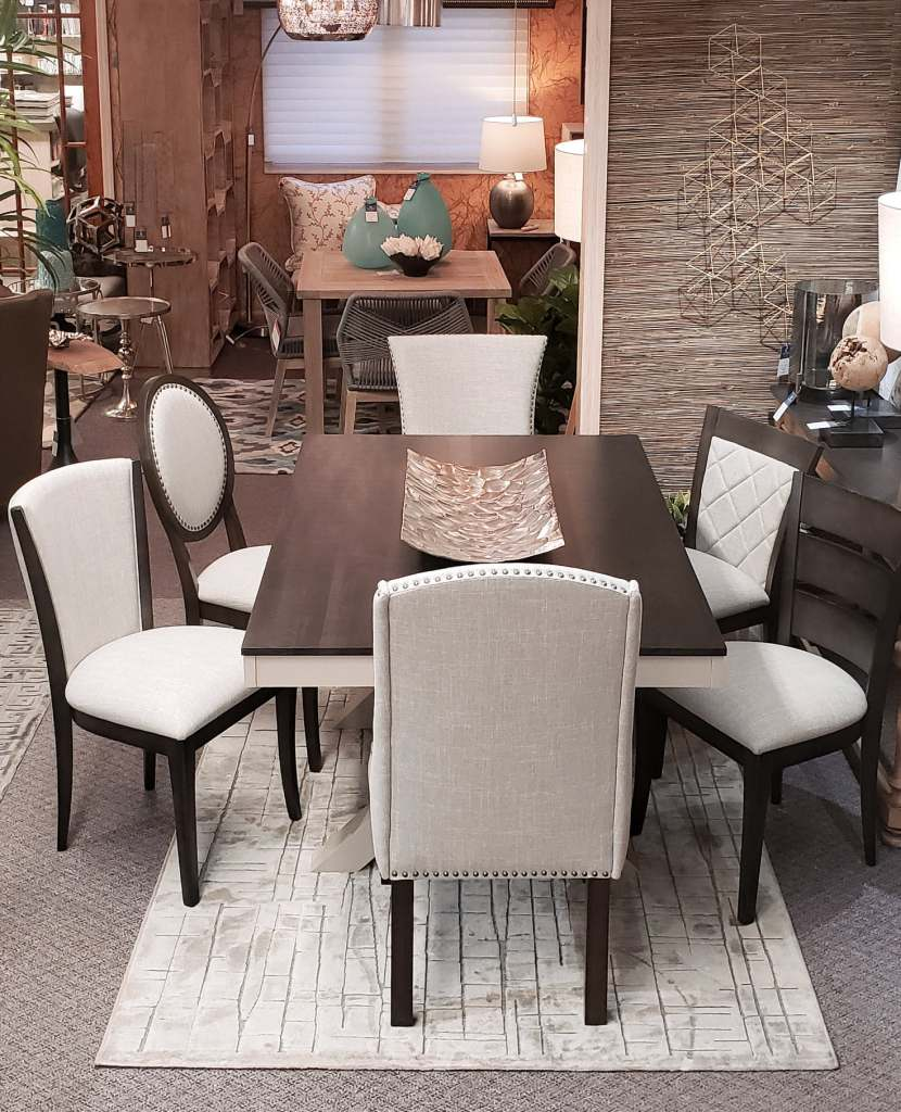 Dining Table Set with a distinctive selection of 6 dining chairs