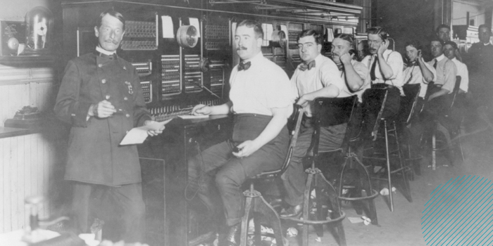 the telephone switchboard connected