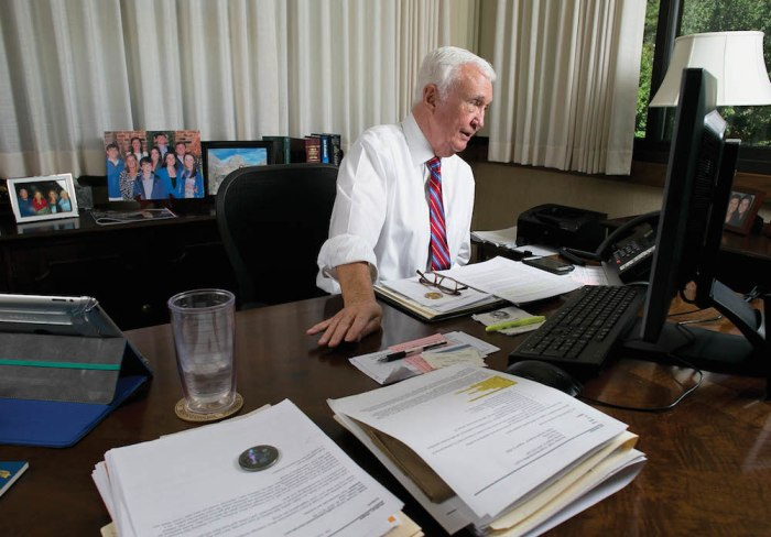 North Carolina ABC Chairman Jim Gardner, photographed in his office in Raleigh, N.C. on Thursday, August 18, 2016.