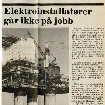 Elektrikerstreiker, avis,