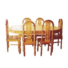 Chair Design Bd Swivel Replacement Base Dining Table With 6 Segun Wooden Brown Buy Online At Best Prices In Bangladesh Daraz Com