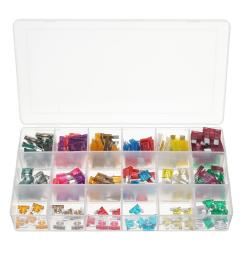 165pcs mini low blade fuse assortment kit box 1 40 amp for auto car motorcycle [ 1200 x 1200 Pixel ]