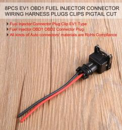 te 8pcs ev1 obd1 fuel injector connector wiring harness plugs clips pigtail cut black red buy online at best prices in bangladesh daraz com bd [ 1000 x 1000 Pixel ]