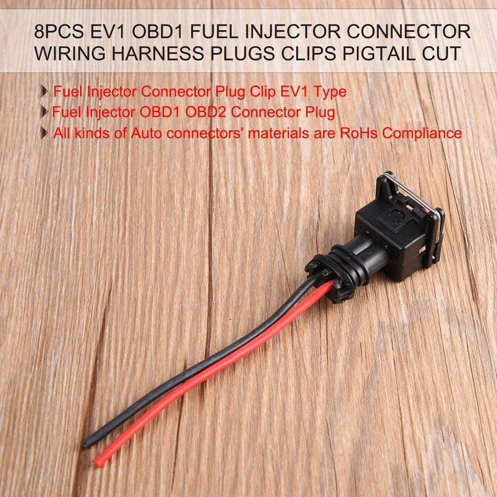 medium resolution of te 8pcs ev1 obd1 fuel injector connector wiring harness plugs clips pigtail cut black red buy online at best prices in bangladesh daraz com bd