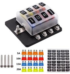product details of 8 way 16 fuse box 12v 32v circuit standard blade block holder kit car caravan [ 1200 x 1200 Pixel ]