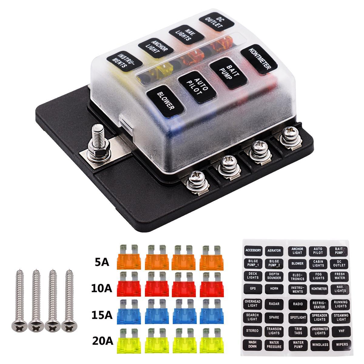 hight resolution of product details of 8 way 16 fuse box 12v 32v circuit standard blade block holder kit car caravan