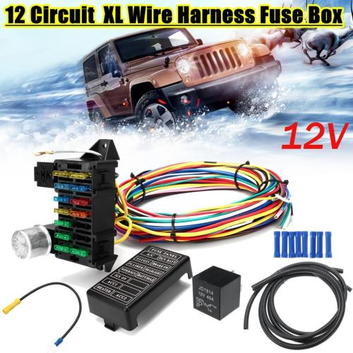 small resolution of package include 1 x 12 circuit wiring harness 2 x pipe 8 x blue accessories