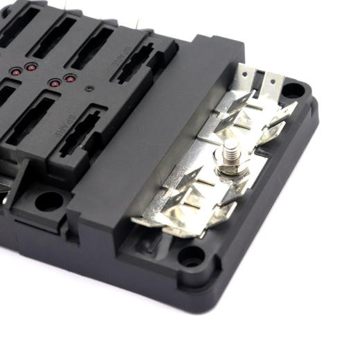 small resolution of led indication of blown fuses transparent cover for clear view of fuses 100a positive bus bar with m5 10mm studs 0 250 quick terminals